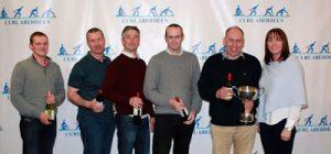 Super League Division A - L-R: Andrew Ferguson, Andy Ramsay, Craig Lockhart, Mark Buchan, Angus Robertson (Skip) and Jackie Lockhart